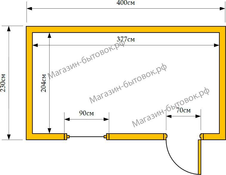 Бытовка-хозблок 4х2,3м