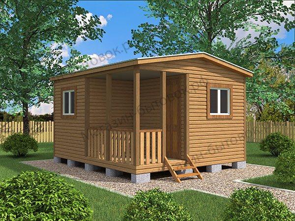 Дачный модульный домик 4х4,6м с верандой
