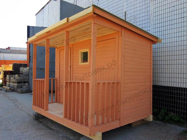 Душ-туалет 3х2,3м с верандой