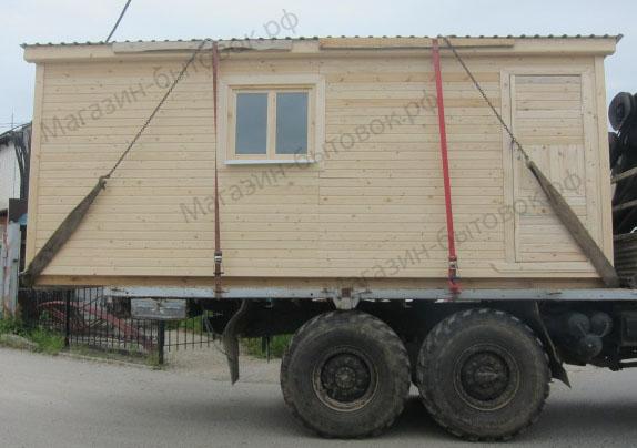 Мишуково. Бытовка строительная 6х2,3м