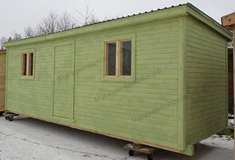 Деревня Скрипово. Бытовка дачная 7х2,3м. Распашонка с перегородками