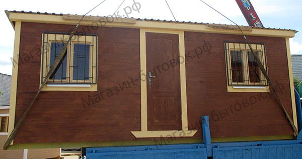 Бытовка дачная 6х2,3м с двумя помещениями